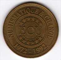 """ECU Du Magazine """"Numismatique & Change"""" : 20e Anniversaire 1972-1992 - Euros Of The Cities"""