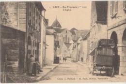 CPA 89 SACY Rue Principale 1ere Vue L'Eglise 1904 - Non Classificati