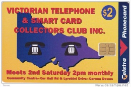 Australia, 98002007A , Victoria Telephone Collector,1 St Print, Chip On Front, Only 560 Issued, 2 Scans. - Australie