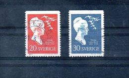 SUEDE. N°434a-5a De 1958 Oblitérés. S. Lagerlof. - Schrijvers