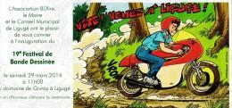 Carton D'invitation DESORGHER Festival BD Ligugé 2014 (Jimmy Tousseul) - Postcards