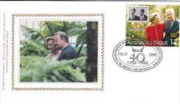 40 Year Wedding Anniversary King Albert And Queen Paola  Belgium  (  Rood 477 - FDC
