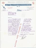 """Carta 1951 EIBAR - """"EL TRUST EIBARRES"""" - Fabrica De Armas Y Exportacion Al Por Mayor - Espagne"""