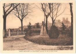 Dépt 42 - SAINT-BONNET-LE-CHÂTEAU, Vu Du Jardin Public - Autres Communes
