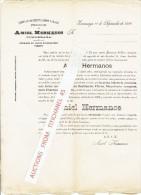 Carta 1896 ZUMARRAGA - AMIEL HERMANOS - Fabrica De Aguardientes, Licores Y Arabes - Espagne
