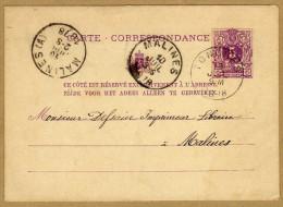 Carte Correspondance Entier Postal 1878 Tongres à Malines - Postcards [1871-09]