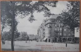 CPA Noir Et Blanc Diedenhofen Thionville Place De La Porte De Metz Et Rue St Pierre - Thionville