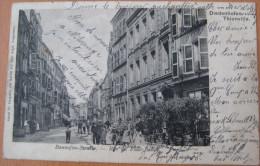 CPA Noir Et Blanc Thionville Bannofen Strasse Rue Du Four Banal - Thionville