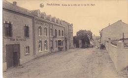 Neufchateau Entrée De La Ville Par La Rue St Roch Ecurie Pour 50 Chevaux,hotel Du Terminus Circulé En 1933 - Neufchâteau