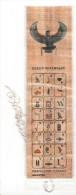 Marque Pages En Papyrus - Queen Nefertary - Hieroglyphic Alphabet - Bookmarks