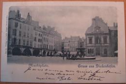 CPA Couleur Thionville Gruss Aus Diedenhofen Marktplatz - Thionville