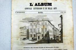 PROSPETTO PALAZZO DI PROPAGANDA IN ROMA - ANDREA VESALIO ANATOMISTA (NIZZA 1514 ZANTE 1564) - REBUS - L´ALBUM 1846 - Estaño