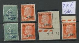 Caisse D'amortissement  4x 248 ** Et 2x 247*   Cote2014:  210 Euros - France