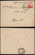Lettre De Ethe  à Bruxelles 1914 - 1912 Pellens