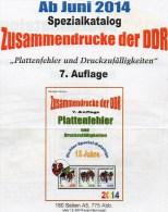 RICHTER 2014 DDR-Katalog Teil 4 ZD-Plattenfehler Neu 25€ Abarten Se-tenants And Blocs Error Special Catalogue Of Germany - Filatelie