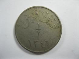SAUDI ARABIA HEJAZ 1/2 HALF GIRSH 1346 AH  = 1927 OR 1928 RARE COIN - Arabie Saoudite