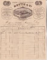 FACTURE BETTS ET CIE -BORDEAUX   PRIX:/    5€ - 1800 – 1899