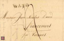 1815 GAND Kaufmanns Bf 4 Dec.Taxe N.Francomont - 1814-1815 (Generaal Gouv. België)