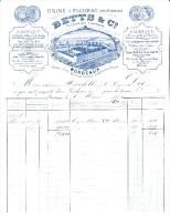 FACTURE BETTS ET CIE -BORDEAUX   ANNEE 1871 - 1800 – 1899