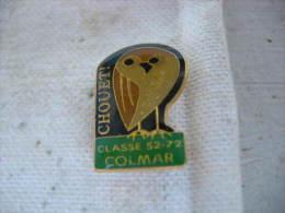 Pin's Chouet! Classe 52-72 De COLMAR. Hibou, Chouette - Verenigingen