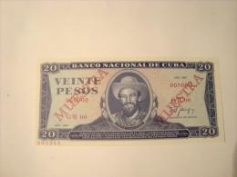 CUBA - 20 Pesos 1987 - Specimen - état Neuf - UNC - P.105 S - Cuba