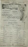 43Orn  Marseille Cpa Programme Cloture Saison 1911 /12 Opera Programme Du Concert (rare ) - Marseille