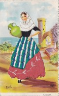 SPANISH EMBROIDERED LADY - Postcards