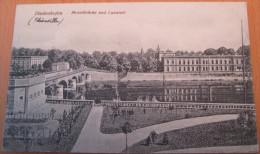 CPA Noir Et Blanc Thionville Diedenhofen Moselbrücke Und Lazarett - Thionville