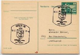 FESTIVAL POLITISCHES LIED Berlin 1977 Auf DDR P81A Antwort-Postkarte - Musique
