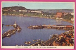 PC9662 Harbour And South Bay, Scarborough, Yorkshire - Scarborough