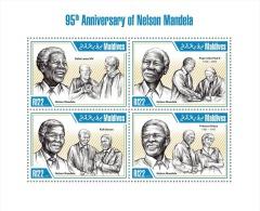 mld13303a Maldvis 2013 95th Anniversary of Nelson Mandela s/s Pope John Paul ll Diana Dalai Lama Nobel Pzire