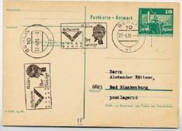 """MOLIÉRE: """"L´AVARE""""  Berlin 1981 On East German Postal Card P81 A - Teatro"""