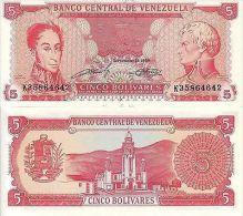 VENEZUELA BANCONOTA FDS 5 BOLIVARES 1989 FDS UNC - Venezuela