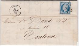 LAC -PC  2657 -  REVEL  ( 30 )  HAUTE-GARONNE - REF 12137  + CACHET TYPE 15 - Marcophilie (Lettres)