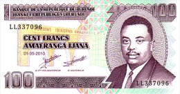 BURUNDI   100 Francs  Daté Du 01-05-2010             ***** BILLET  NEUF ***** - Burundi