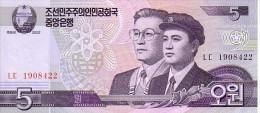 COREE DU NORD  5 Won  Emission De 2002              ***** BILLET  NEUF ***** - Korea, North