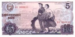 COREE DU NORD  5 Won  Emission De 1978    Pick 19 C             ***** BILLET  NEUF ***** - Korea, North