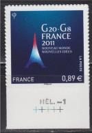 Issu De La Boutique Pro, G20-G8 France 2011, Nouveau Monde Nouvelles Idées, 0.89€ N°598 Neuf - Adhesive Stamps