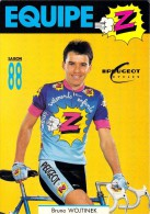 Sport  - CYCLISME -Equipe Z  -Bruno WOJTINEK  (B) (vêtements Cycles Peugeot)-saison 88 (1988) (vélo)*PRIX FIXE - Ciclismo