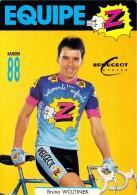 Sport  - CYCLISME -Equipe Z  -Bruno WOJTINEK  (C) (vêtements Cycles Peugeot)-saison 88 (1988) (vélo)*PRIX FIXE - Cycling