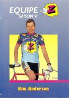 Sport  - CYCLISME -Equipe Z  (vêtements) -Kim ANDERSEN -saison 91 (1991) ETAT= Voir Description *PRIX FIXE - Cycling