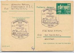 100 J. EISENBAHN JOHANNGEORGENSTADT-SCHWARZENBERG 1983 Auf DDR P81A Postkarte - Trenes