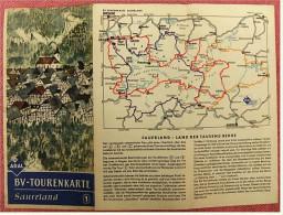 ARAL BV-Tourenkarte Sauerland -  Von Ca. 1955 - 1 : 150.000  -  Ca. Größe : 53 X 78,5 Cm - Maps Of The World