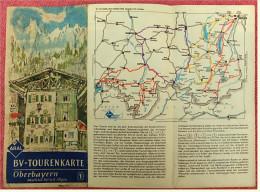 ARAL BV-Tourenkarte Oberbayern Westlicher Teil Mit Allgäu  -  Von Ca. 1955 - 1 : 150.000  -  Ca. Größe : 88 X 62,5 Cm - Maps Of The World