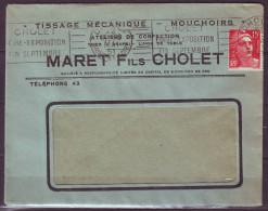 CHOLET  Le 22 Mai 51 R.B.V.  FOIRE EXPOSITION  FIN SEPTEMBRE   Entete   COMMERCIALE    Mne DE GANDON - Marcophilie (Lettres)