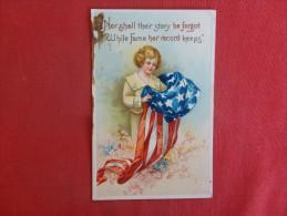 Patriotic   US Flag---Embossed  As Is Stain     Ref 1292 - Patriotiques