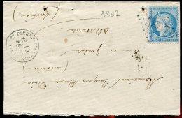 70000 T - 60 GC 3807 Cad Type 16 ST PIERRE D ALBIGNY (88) Fev 1872 TB - Marcophilie (Lettres)