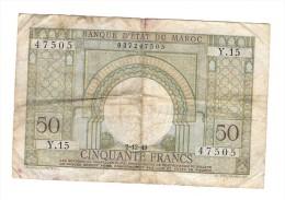 BANQUE D' ETAT DU MAROC 50 FRANCS - Marocco