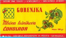 "EX YU. Slovenia.Lesce Pri Bledu. The  Sumi Factory Wrapper For ""Gorenjka"" Chocolate. - Chocolate"