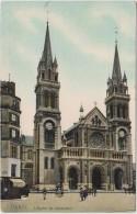 PARIS L'EGLISE SAINT AMBROISE TBE CPA COLORISEE TOILEE - Eglises